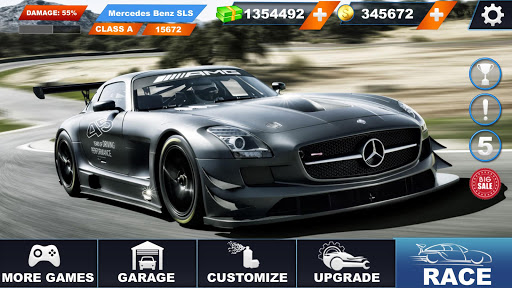Benz SLS AMG: Extreme City Stunts Drive & Drifts Apkfinish screenshots 3