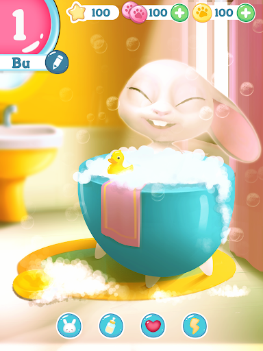 Bu the virtual Bunny - Cute pet care game 2.7 Screenshots 10