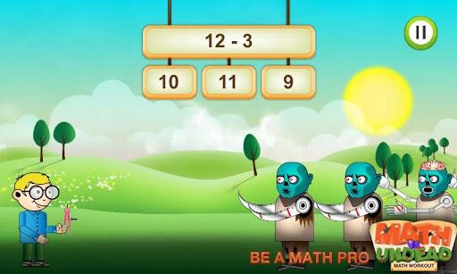 Math vs. Undead: Math Workout apkmr screenshots 1