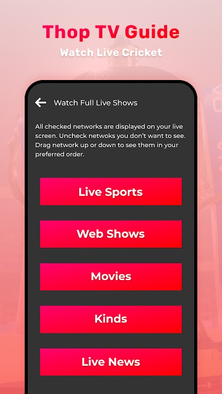 Thop TV : Free Thoptv Live IPL Cricket Guide 2021 poster 1
