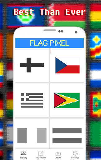 Flags Coloring By Number - Pixel  screenshots 3