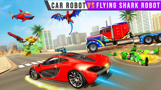 Real Shark Robot Car Game u2013 Police Truck Robot  screenshots 8