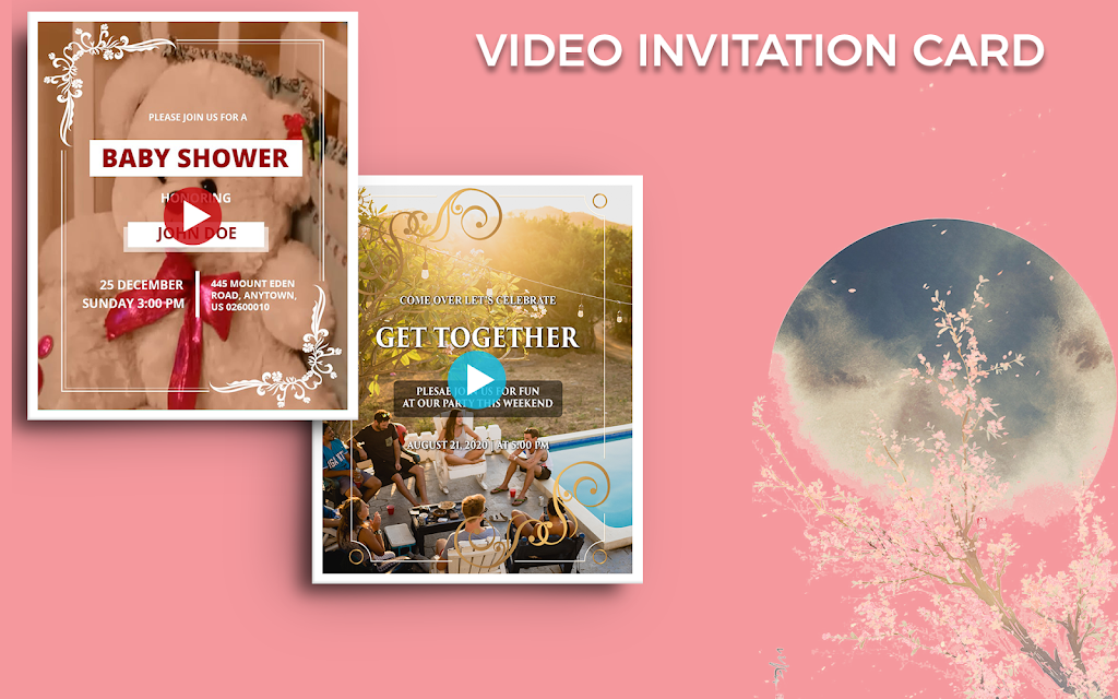 Video Invitation Maker - Create eCards  poster 14