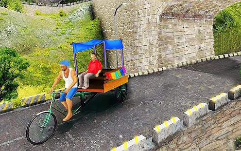Bicycle Rickshaw Simulator 2019 : Taxi Game 4.0 Screenshots 12