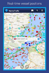 MarineTraffic ship positions Screenshot
