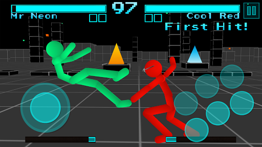 Stickman Fighting: Neon Warriors screenshots 1