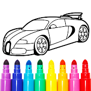 Learn Coloring & Drawing Car Games for Kids
