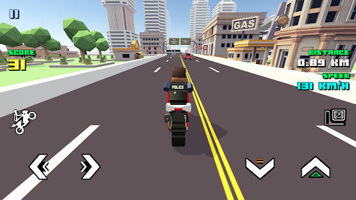 Blocky Moto Racing - motorcycle rider 1.30 screenshots 1