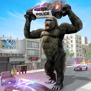 Imágen 1 de Angry Monster Gorilla - Godzilla King Kong Games para android
