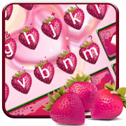 Love Red Stawberry Keyboard Theme