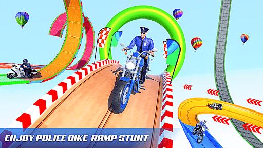 Police Bike Stunt Games: Mega Ramp Stunts Game 1.0.8 screenshots 2