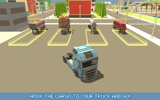 Blocky Truck Driver: Urban Transport 2.2 screenshots 5