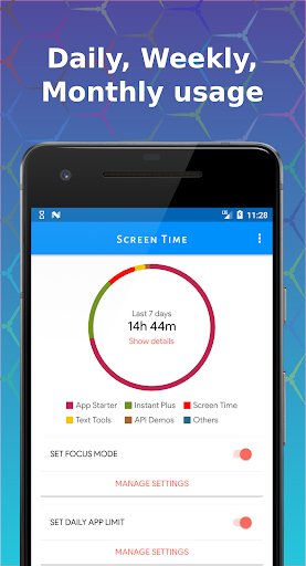 Screen Time - Limit phone usage & Stay focused ud83cudfaf modavailable screenshots 1