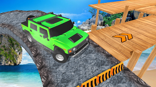Offroad Jeep Driving Stunt 3D : Real Jeep Games screenshots 1
