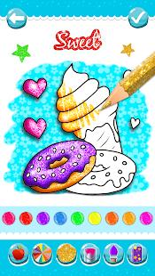 Glitter Ice Cream Coloring 5.4 Screenshots 3