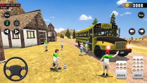 Offroad School Bus Driving: Flying Bus Games 2020 apkslow screenshots 10