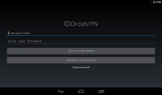 DroidVPN - Easy Android VPN Screenshot
