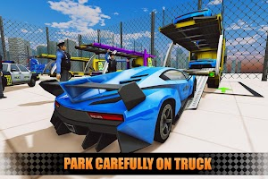 US Police City Car Transport Truck 3D