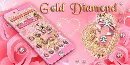Pink Gold Diamond Live Theme  Screenshots 4