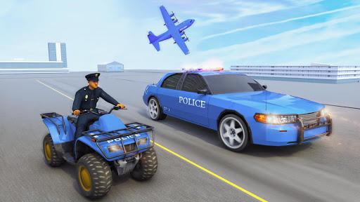 USA Police Car Transporter Games: Airplane Games apktram screenshots 11