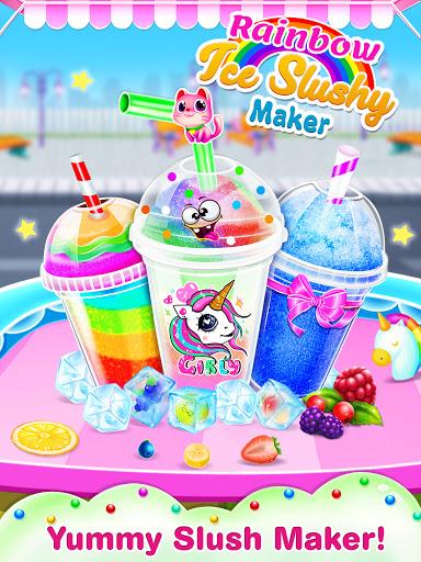 Unicorn icy slush maker-frozen food game screenshots 1