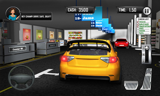Drive Thru Supermarket: Shopping Mall Car Driving 2.3 Screenshots 3
