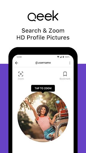 Qeek - Profile Picture Downloader for Instagram 2.2 Screenshots 1