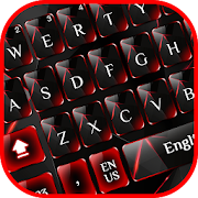 Red Black Glass Keyboard