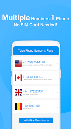 Telos Free Phone Number & Unlimited Calls and Text 2.2.7 Screenshots 3
