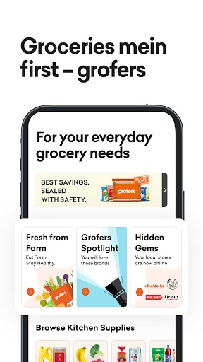 grofers-grocery delivered safely with SuperSavings apktram screenshots 1
