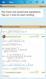 Equation Editor and Math Question and Answer Forum Screenshot