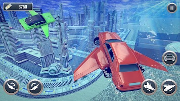 Underwater Stunts Car Flying Race
