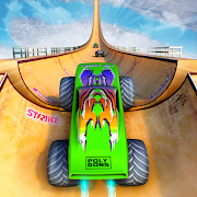 Monster Truck Mega Ramp - Extreme Stunts GT Racing