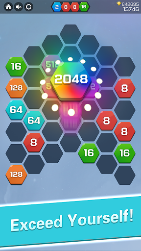 Merge  Block Puzzle - 2048 Hexa modavailable screenshots 4