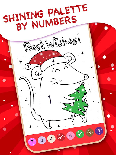 Christmas Coloring Book By Numbers 2.4 screenshots 2
