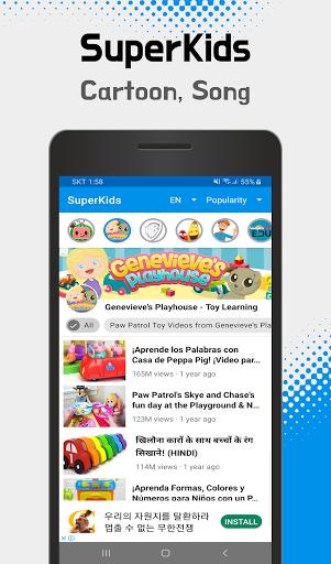 SuperKids - videos & cartoons, songs for your kids  Screenshots 4