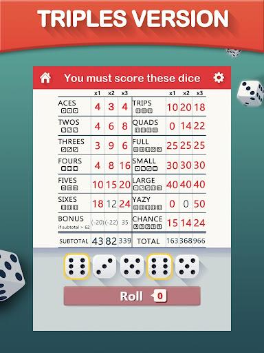 Yazy the best yatzy dice game 1.0.34 screenshots 8