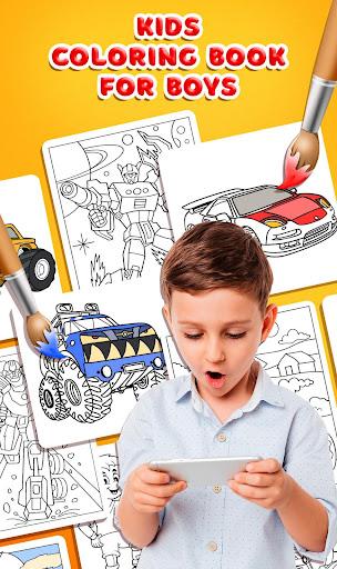 Kids Coloring Book for Boys  screenshots 1