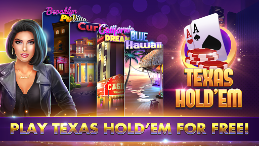 POKER, SLOTS - Huge Jackpot - Texas Holdem Poker  screenshots 1