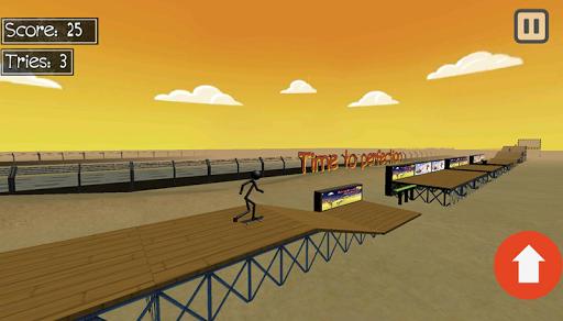 stickman extreme skateboard screenshot 2
