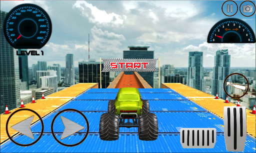 Monster Mega Truck Jump 3D Race Simulator apkpoly screenshots 4