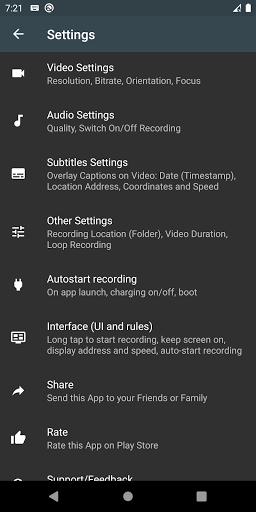Droid Dashcam - Driving video recorder, BlackBox 1.0.74 Screenshots 4