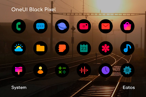 OneUI 3 Black - Round Icon Pack Screenshot