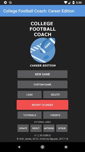 College Football Coach: Career Edition (v1.4)  updownapk 1