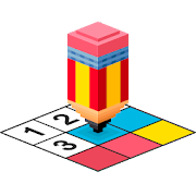 3D Pixel Art - Color by numbers