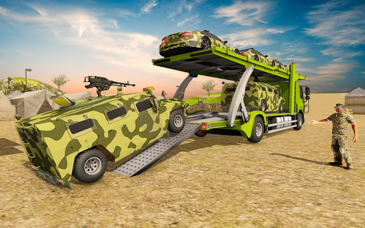 Off-Road Army Vehicle Transporter Truck  screenshots 15