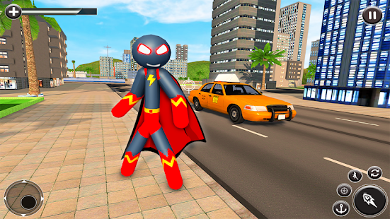Stickman Mafia Rope Hero - Superhero Gangster Game Screenshot
