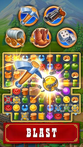 Jewels of the Wild Westu30fbMatch 3 Gems. Puzzle game apktram screenshots 3