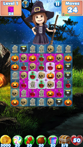 Halloween Games 2 - fun puzzle games match 3 games 20.11.28 screenshots 1