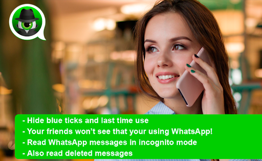 Anti Spy Agent for WhatsApp - Incognito mode android2mod screenshots 1